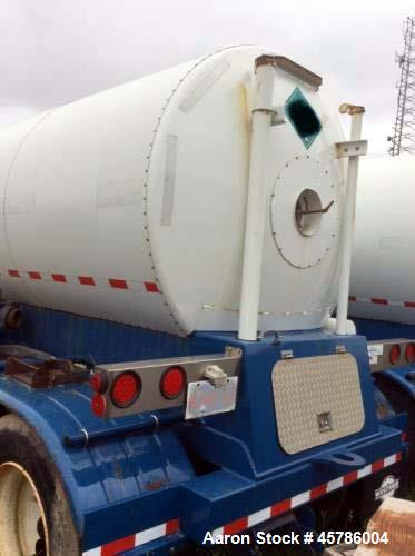 Used- 5600 Gallon CO2 Transport Trailer. Rated 300 PSIG used for transporting and onsite storage of CO2.