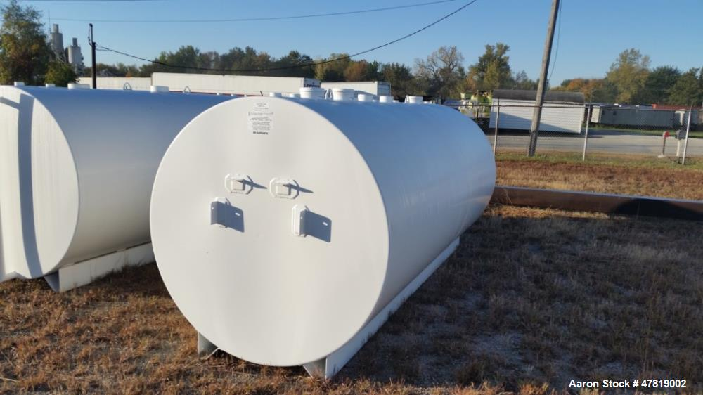Unused- 2,000 Gallon Tank. Two compartment, UL, (2) 1,000 gallon inners with pump mount brackets.