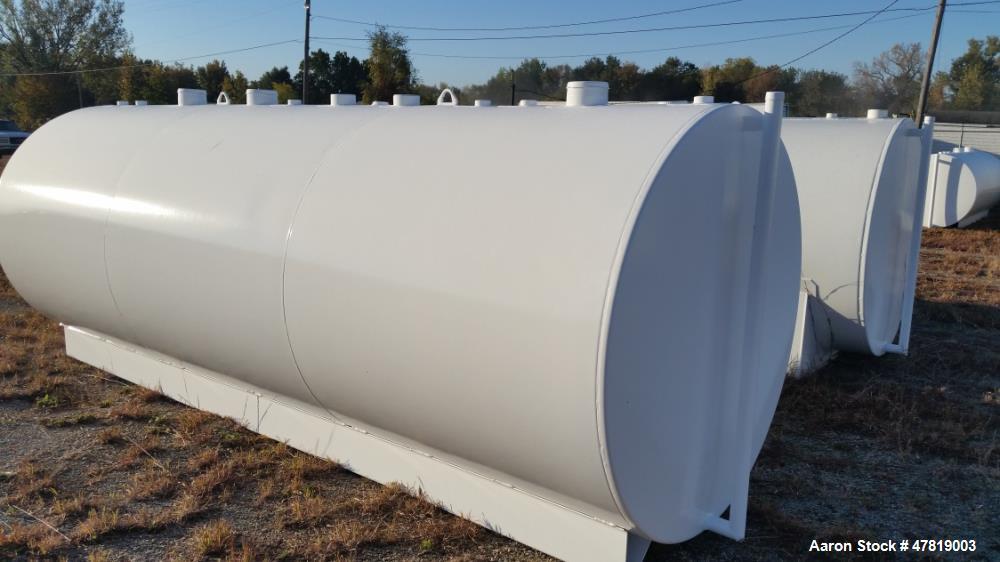 Unused- 2,500 Gallon Tank. Two compartment, UL, has 1500 gallon and 1000 gallon inners.