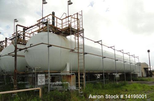Used-AMF Bieard Propane Tank, 75,000 gallon, carbon steel.Internal rated 250 psi. Approximately 12' diameter x 91' overall l...