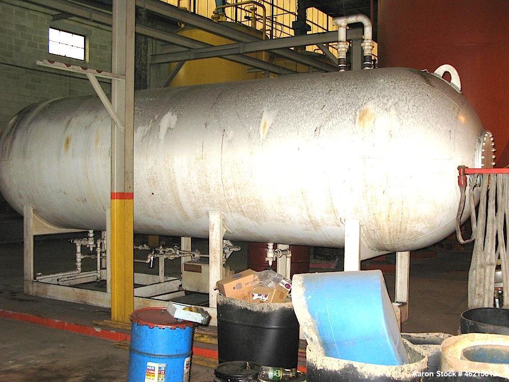 Used- Freon Storage Tank, 3,700 Gallon, Horizontal