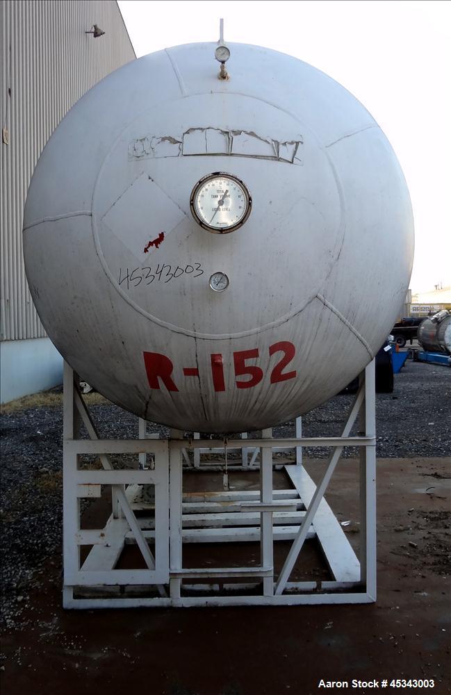 Used- 5,500 Gallon Carbon Steel Master Tank & Welding Pressure Tank