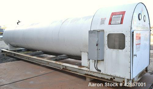 Used- Airco Industrial Gases Horizontal Liquid Carbon Dioxide Storage Tank, Carbon Steel. 12 Ton CO2 capacity (24,000#), ope...