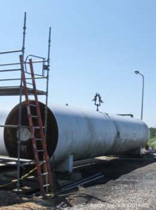 "Used- Tomco 38 ton CO2 tank, 6'6"" diameter x36' long x 9' tall. approximately 15 tons. NB # 1268, SN-1268. Yr. 1984."