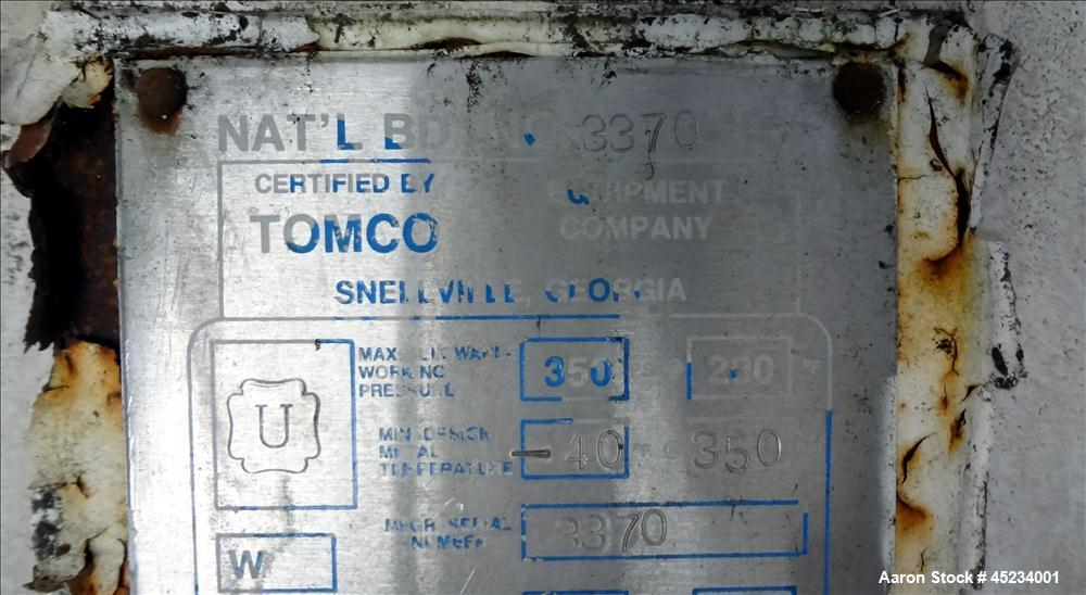 Used- 6400 Gallon Carbon Steel Tomco Equipment Company Storage Tank
