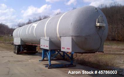Used- Tomco Equipment Company 50 Ton Portable CO2 Storage Tank.