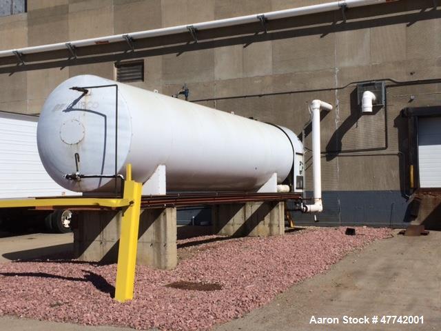 Used- Tomco CO2 Tank. 30 ton capacity, 350 psi at 200 degrees F. Mfg. 1989.