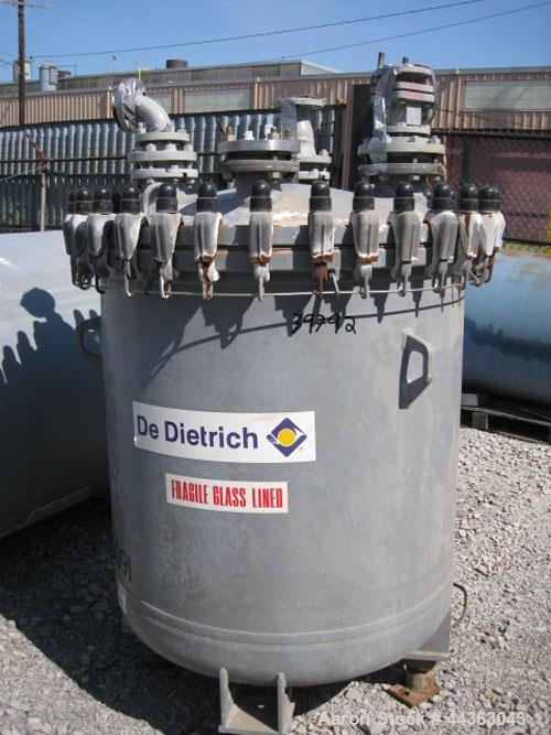 """Used- DeDietrich glass lined receiver, 200 gallon, model CR-200, 38"""" diameter x 39"""" straight side, removable dome top, dish ..."""