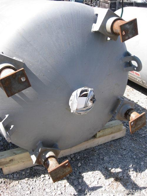 """Used- DeDietrich Glass Lined Receiver, 500 gallon, model VTC-500, 47"""" diameter x 60"""" straight side, dish top and bottom, rat..."""