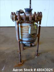 Used- Pfaudler Glass Lined Pressure Tank, Approximately 30 Gallon, 5015 Glass, V