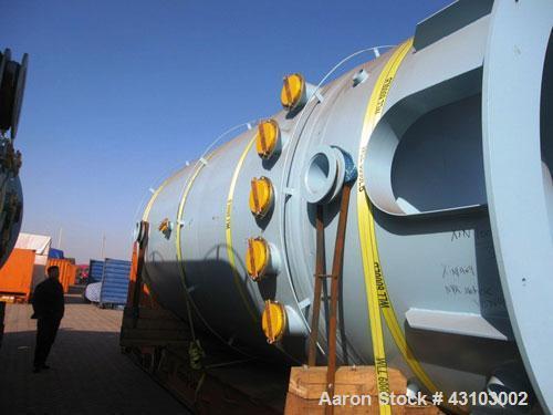 Unused-Vertical Glass Lined Storage Tank, PCW 11,900 Gallon. 87 psig or full vacuum at -20 deg F to 350 deg F, 9119 dark blu...