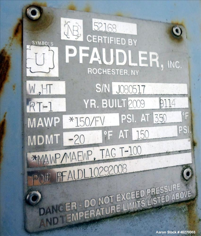 Unused Pfaudler Tank, Approximately 2,200 Gallons, Glass Lined