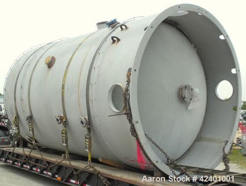 """Used- Pfaudler Glass Lined Chemstor Pressure Tank, 10,200 gallon, model CV-126-10200, 9119 blue glass, vertical. 126"""" Diamet..."""