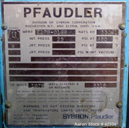 "USED:Pfaudler glass lined pressure tank, 5 gallon, type 3315 glass,vertical. 12"" diameter x 12"" straight side. Unit requires..."