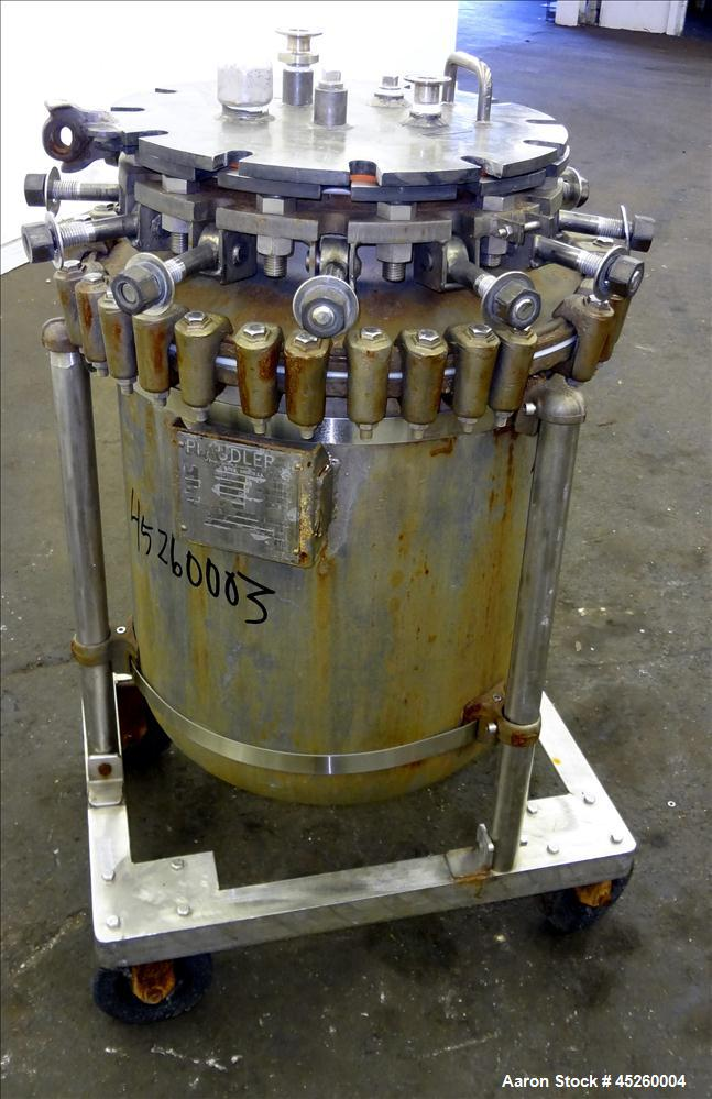 Used- 110 Liter Pfaudler Glass Lined Pressure Tank