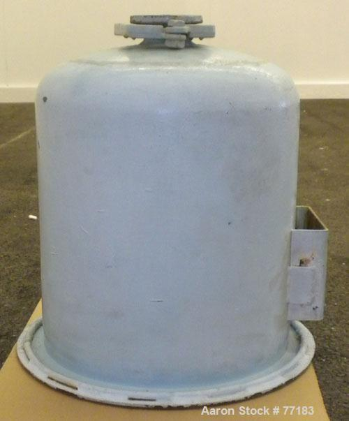 """Used- Pfaudler Glass Lined Reciever Body, 10 Gallon. 13-1/2"""" Diameter x 15"""" straight side. Open top, no cover. Dish bottom. ..."""