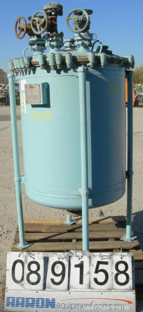"USED: Pfaudler glass lined receiver tank, 100 gallon, 3315 glass, vertical. Approximate 30"" diameter x 34"" straight side. Di..."
