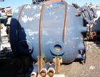 Used- Pfaudler Glass Lined Receiver Tank, 350 Gallon, Model CVC48-350-50, 9115 Blue Glass, Vertical. 48