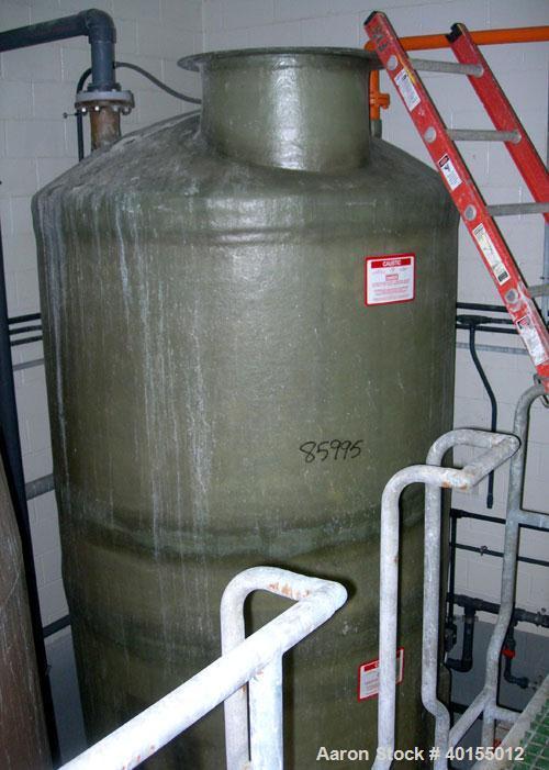 "Used:  Empire Products tank, 2000 gallon, fiberglass (Derakane 411-350), vertical. Approximate 72"" diameter x 9'6"" straight ..."