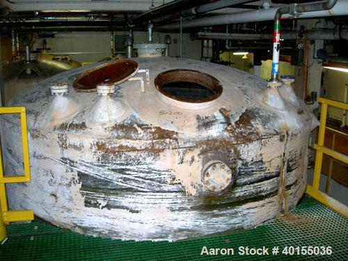 """Used:  Resin Fab tank, 10,000 gallon, fiberglass, vertical. Approximate 144"""" diameter x 144"""" straight side. Flat top and bot..."""