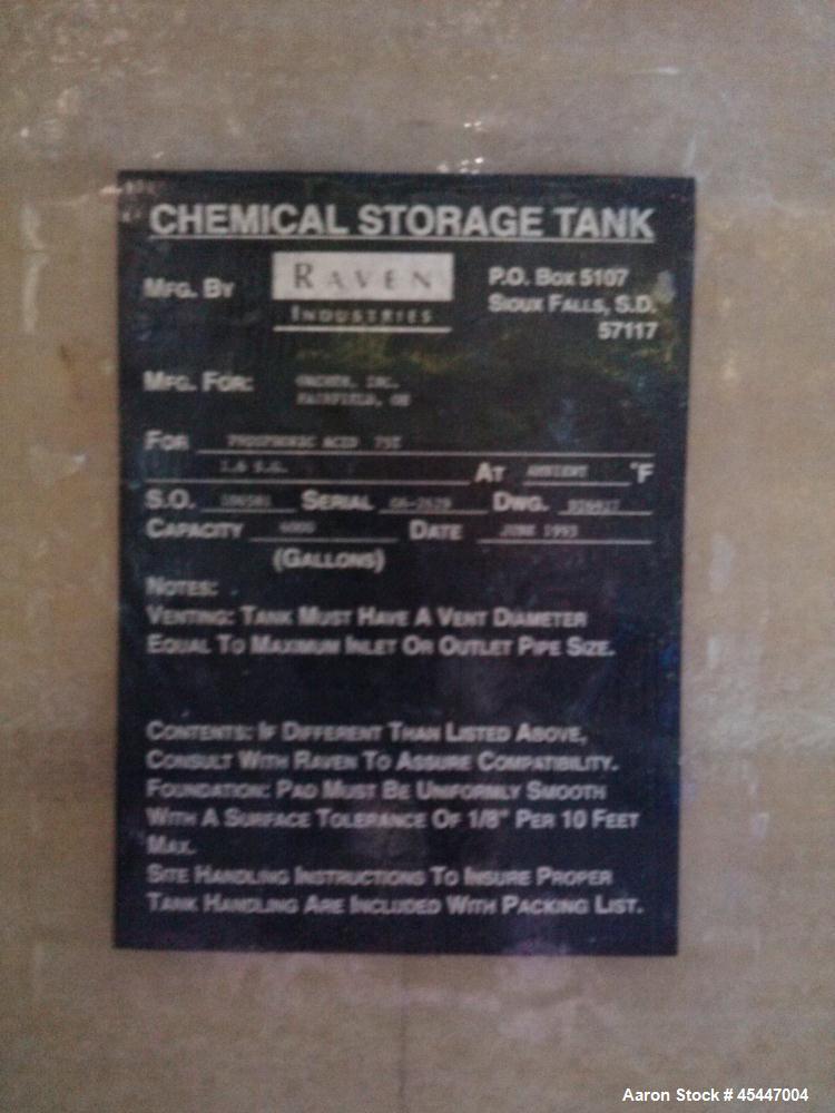 Used- 6,000 Fiberglass Tank