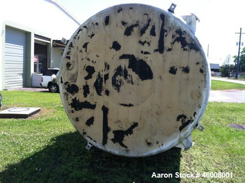 Used- Fiberglass Tank, Approximately 5000 Gallon. Tank was originally of vertical design and was converted to horizontal. It...