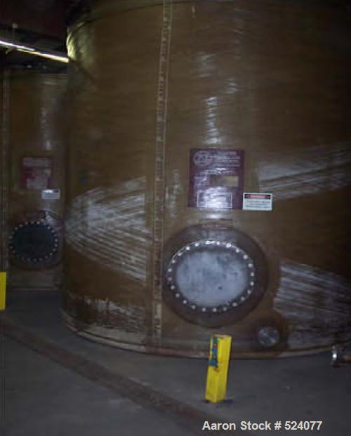 "USED: 10,000 Gallon water storage tank, fiberglass. Flat bottom, dish top. 12' wide x 13'5"" high."