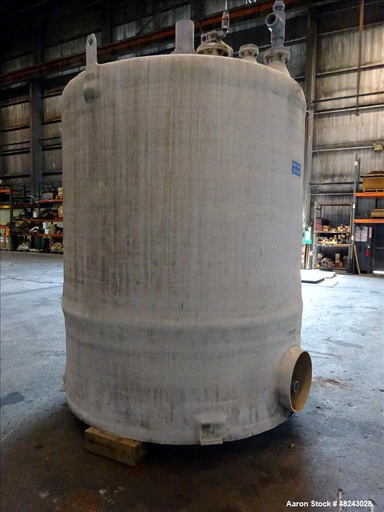 Used- Augusta Fiberglass Tank, 1,930 Gallon, Vertical.