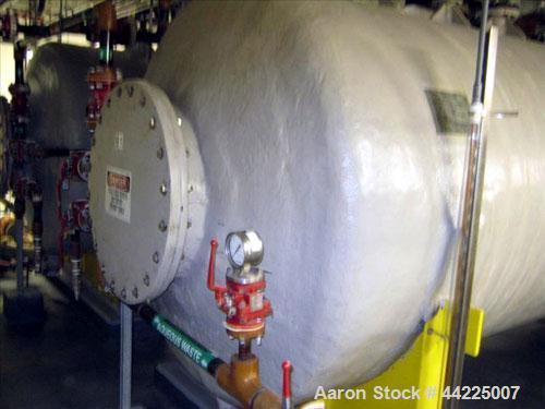 "Used- Augusta Fiberglass Tank, 3,200 Gallons, Horizontal.  66"" Diameter x 192"" straight side, dished heads. (2) 8"", (2) 6"", ..."