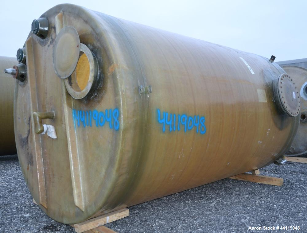 "Used- EFI Edwards Fiberglass Tank, 7380 Gallon, ASTM-D-3299-88 Filament Wound, Vertical. Approximate 108"" Diameter x 186"" st..."