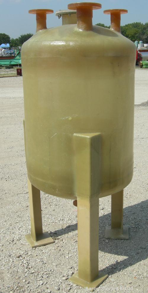 "Used- Empire Fibergalss Products Tank, 100 Gallon, Fiberglass, Vertical. Approximate 30"" diameter x 32"" straight side. Dish ..."