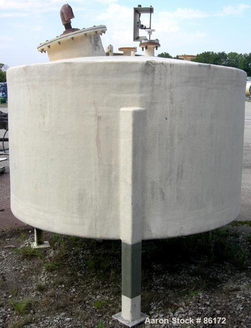 """USED- Empire Tank, 1200 Gallon, Fiberglass, Vertical. Approximate 84"""" diameter x 48"""" straight side. Dish top and bottom. Ope..."""