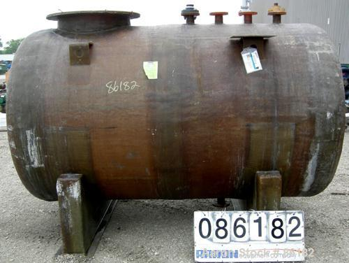 "USED: Empire Products tank, 1200 gallon, fiberglass, horizontal. Approximate 58"" diameter x 92"" straight side. 1 dished end,..."