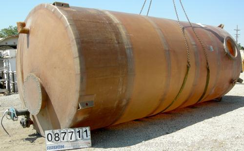 "USED: Empire Products tank, 10,000 gallon, fiberglass, vertical. Approximate 9' diameter x 256"" straight side. Dish top, fla..."