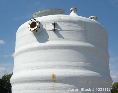 Used-Justin Tank Inc Tank, 3316 gallons, Derakane 411 construction, vertical.Dish top and bottom.Design temperature 120 deg ...