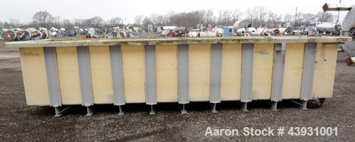 """Used- Plastic Rectangular Tank, Approximately 2800 Gallons.  58-1/4"""" Wide x 238"""" long x 46-3/4"""" deep.  Open top, no cover.  ..."""