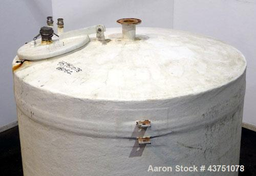 """Used- Ohio GRP Fiberglass Storage Tank, 2000 Gallons, Vertical. Approximate 84"""" diameter x 76"""" straight side, dished top and..."""