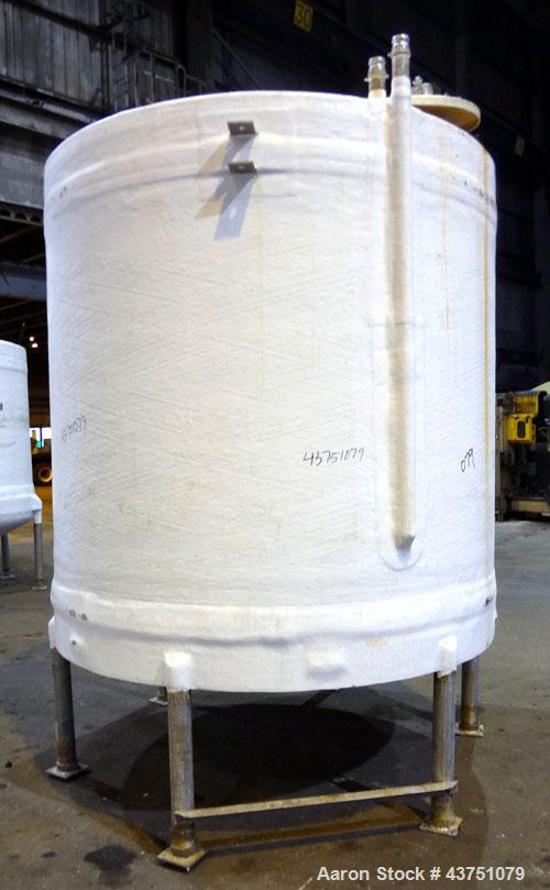 "Used- Ohio GRP Fiberglass Storage Tank, 2000 Gallons, Vertical. Approximate 84"" diameter x 76"" straight side, dished top and..."