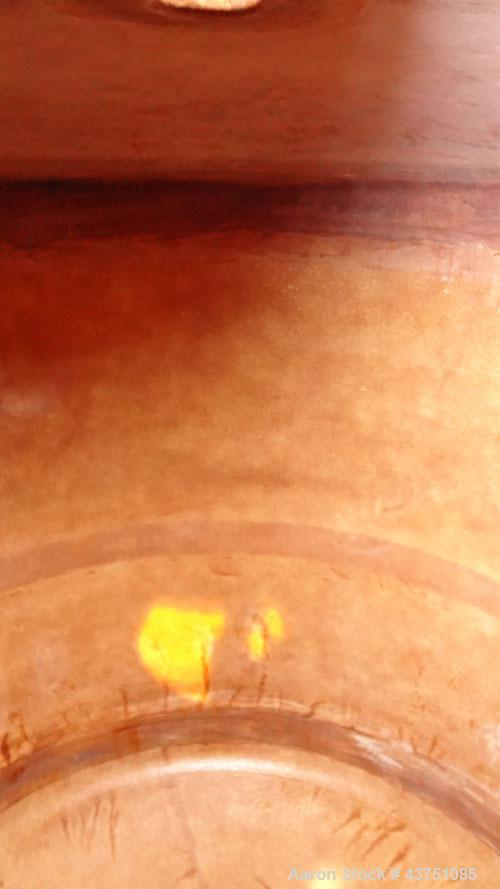 """Used- Ohio GRP Fiberglass Storage Tank, 2000 Gallons, Vertical. Approximately 84"""" diameter x 76"""" straight side, dished top a..."""