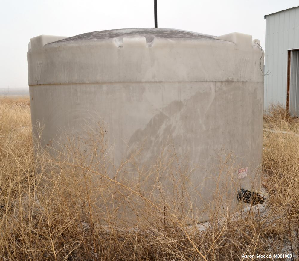 "Used- SSI Snyder Industries Polypropylene Tank, approximately 5000 gallons, vertical. Approximately 144"" diameter x 78"" stra..."