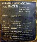 "Used- Raven Industries Fiberglass Tank, Approximate 10000 Gallon, Vertical. Approximate 120"" Diameter x 190"" straight side, ..."