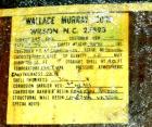 USED: Wallace Murray tank, 34,000 gallon, fiberglass, horizontal. Approx 144