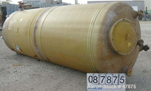 "USED: Viatec tank, 3421 gallon, fiberglass, vertical. 72"" diameter X 14' straight side, dished top and bottom. Internal rate..."