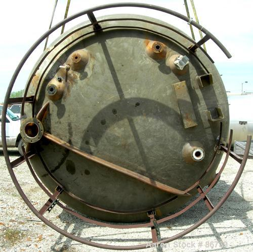 "USED: Viatec resin fab tank, 5306 gallon, fiberglass, vertical. Approximate 120"" diameter x 92"" straight side. Dished top, f..."