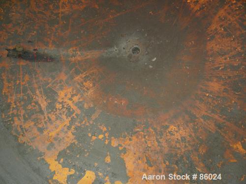 "USED: Xerxes Corp tank, 1868 gallon, fiberglass (Derakane 411), vertical. Approximately 102"" diameter x 40"" straight side. D..."
