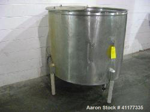 Used-300 Gallon stainless steel single wall open top vertical tank.