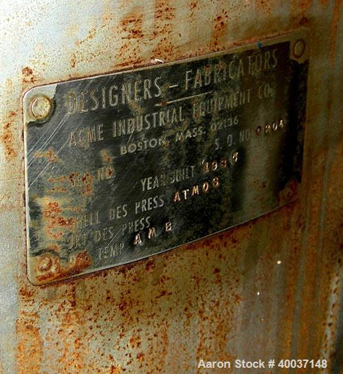 """Used-Used: Designers Fabricators tank, 100 gallon, stainless steel, vertical. 36"""" diameter x 24"""" straight side, dished top a..."""
