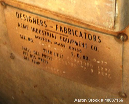 "Used-Used: Designers Fabricators tank, 80 gallon, stainless steel, vertical. 20"" diameter x 56"" straight side, slight dished..."
