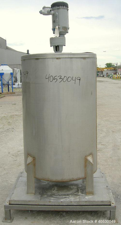 """Used - CMT Environmental Services Tank, 175 gallon, 304 stainless steel. Approximately 32"""" diameter x 48"""" straight side. Fla..."""