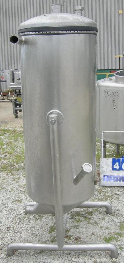 "Used - A.B. Separator Tank, 110 gallon, 304 stainless steel. Approximately 24"" diameter x 56"" straight side. Open top with a..."